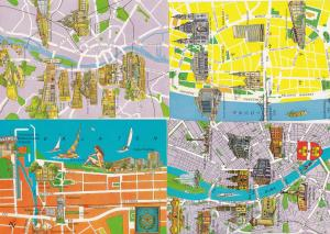 Budapest Baths Inner City Siofok 4x Hungary Map Megye Postcard s