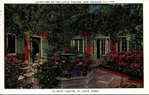 Louisiana New Orleans Courtyard Of The Little Theatre 1948