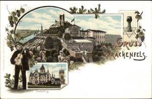 Gruss Vom Drachenfels Germany c1900 Postcard