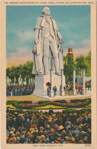 George Wahington Statue at 1939 World Fair NYC, New York City - Linen