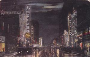 Colorado Denver Curtis Street At Night 1921