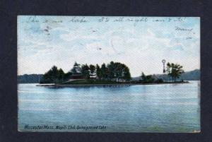 MA Wapiti Club Quinsigamond Lk WORCESTER MASS UDB Postcard Massachusetts