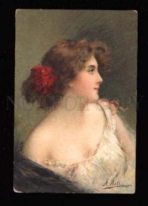 015446 BELLE Lady Girl by ANGELO ASTI vintage color PC
