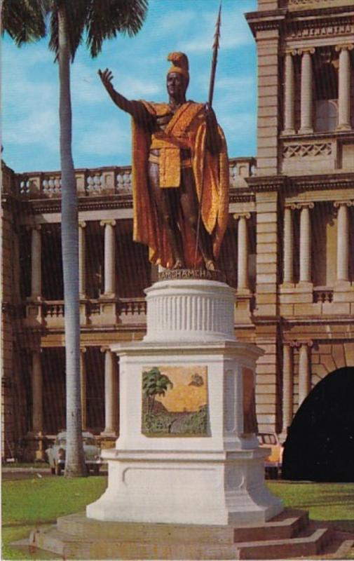 Hawaii Honolulu Statue Of King Kamehameha