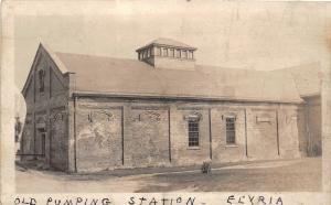 F65/ Elyria Ohio RPPC Postcard c1920 Old Pumping Station Building