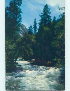 Pre-1980 NATURE SCENE Yosemite Park - Near Stockton & Modesto CA AD5451