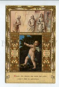 427154 FRANCESCHINI Beatrice DANTE Cupid Vintage SBORGI #90 PC