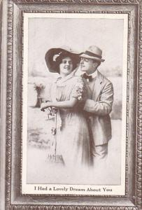 Romantic Couple Wearing Hats I Had A Lovely Dream About You 1911