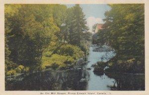 PRINCE EDWARD ISLAND , Canada, PU-1938; An Old Mill Stream