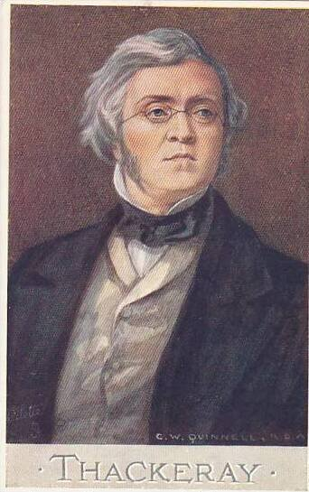 William Makepeace Thackeray Tuck Oilette Men Of Letters Series