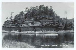 RPPC Lone Rock, Lower Dells, Wisconsin, WI, Kodak Paper real photo