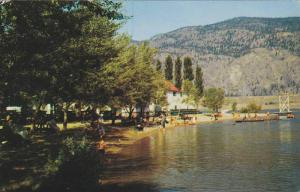Picnic Grounds and Bathing Beach, Osoyoos Lake, British Columbia, Canada, PU-...