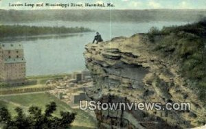 Lovers Leap, Mississippi River in Hannibal, Missouri