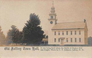 LPS70 Jaffrey New Hampshire Old Jaffrey Town Hall Postcard RPPC
