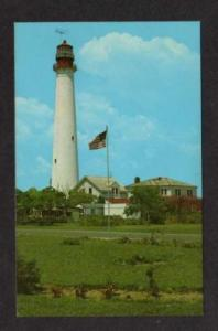 NJ Lighthouse CAPE MAY POINT NEW JERSEY Postcard PC