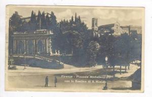 RP: Florence, Italy - Piazzale Michelangiolo con la Basilica di S. Miniato, P...
