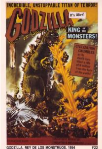 Godzilla Spanish 1954 Film Movie Poster Postcard