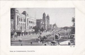 India Calcutta Street View In Chowringhee