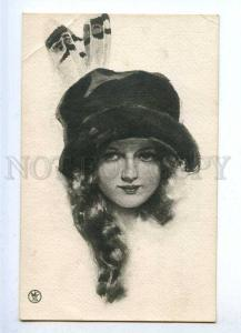 187888 Lady in Hat by Harrison FISHER vintage Russia PHOTO KhB