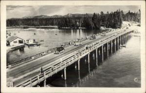 Yellowstone National Park Fishing Bridge HAYNES Real Photo Postcard