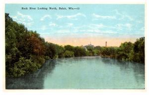 Wisconsin North Beloit , Rock River Looking North