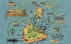 BLOCK ISLAND , Rhode Island , 1930-40s ; Map