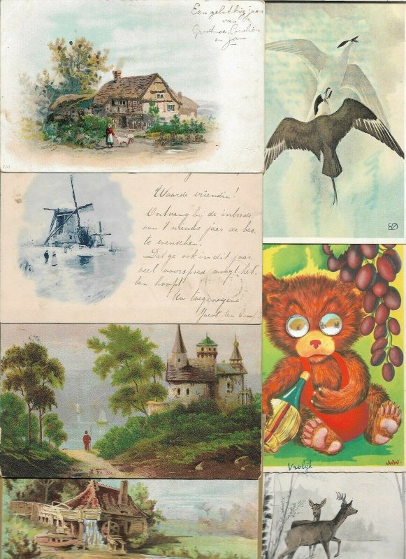 Mixed Postcards Animals People Windmill and more Postcard Lot of 50 01.16