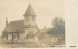 C-1910 First Presbyterian Church Parsonage O'Neil Nebraska RPPC Postcard 196