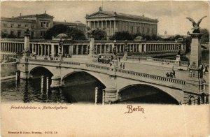 CPA AK BERLIN Nationalgalerie mit Friedrichsbrücke GERMANY (980438)