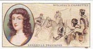 Mitchell Vintage Cigarette Card Famous Scots No 6 Annabella Drummond Died 1401