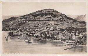 Switzerland, Suisse, Vevey et le Mont Pelerin 1933 used Postcard