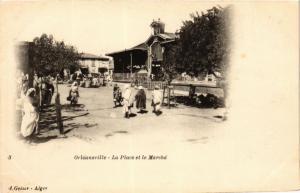 CPA Geiser 3 Orléansville La Place et le Marché ALGERIE (756757)