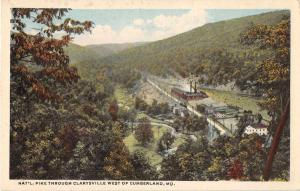 Clarysville Maryland National Pike Scenic View Antique Postcard J51584