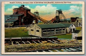 Postcard Scranton PA c1920s Anthracite Coal Mine Colliery Buildings & Breaker