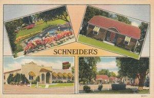 12 Mi. West of CLEVELAND , U.S. 20, Ohio, 30-40s; Schneider's Motor Courts