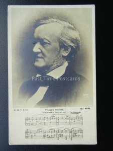 Famouse Composer RICHARD WAGNER Walthers Preislied - Old Postcard by C.W.F. & Co