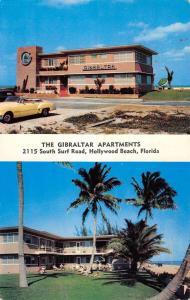 Hollywood Beach Florida Gibraltar Apartments Multiview Vintage Postcard K85312