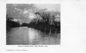 Greeley Colorado~Cache La Poudre River~Tribune Newspaper Postcard c1906 UDB