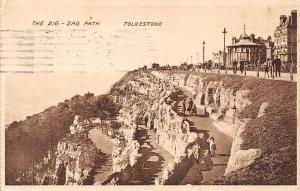 Folkestone The Zig Zag Path Promenade 1925