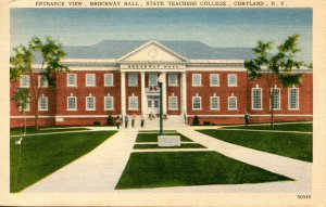NY - Cortland. State Teachers College, Brockway Hall