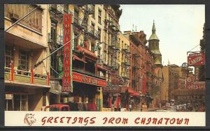 New York, New York - Greetings From Chinatown - [NY-034]