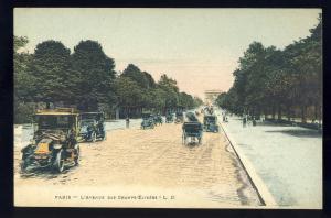 Paris, France Postcard, L'Avenue Des Champs-Elysees