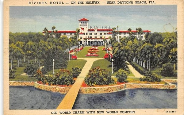 Near Dayton Beach, Riviera Hotel - On the Halifax Daytona Beach, Florida