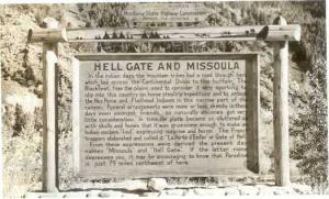 RPPC Hell Gate and Missoula, Montana State Highway Commission Highway Marker