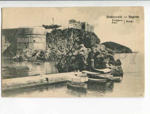 262196 Croatia DUBROVNIK RAGUSA Fort 1908 year postcard