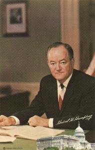 Hubert Humphrey US Vice President Postcard Bachrach Photo