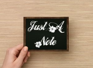 Set of 6  Postcards Blackboard Greetings - Just A Note - Simple Expressions