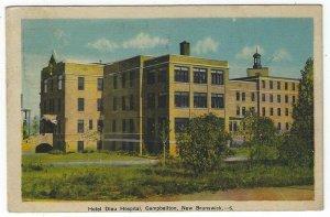 Campbellton, New Brunswick, Canada, View of Hotel Dieu Hospital, 1947