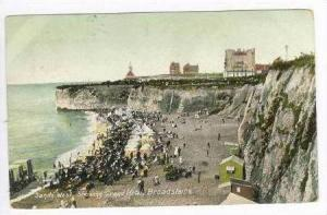 Sands West Showing Grand Hotel Broadstairs, England, 1909