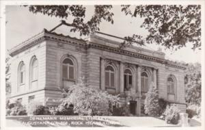 Illinois Rock Island Denkman Memorial Library Augustana College Real Photo